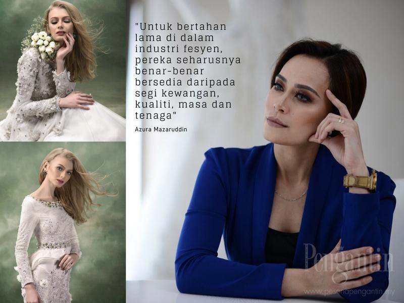 """""""Perlu Ada Ketulenan Dalam Setiap Rekaan"""", Ini Nasihat Azura Couture Buat Pereka Muda Perkahwinan!"""