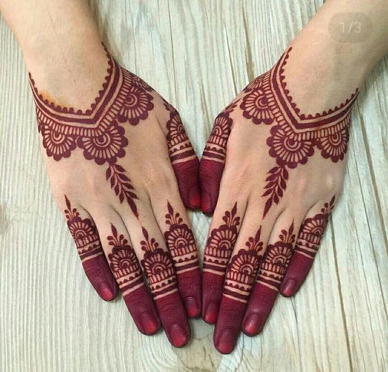 Gambar Henna Tangan Pengantin Simple