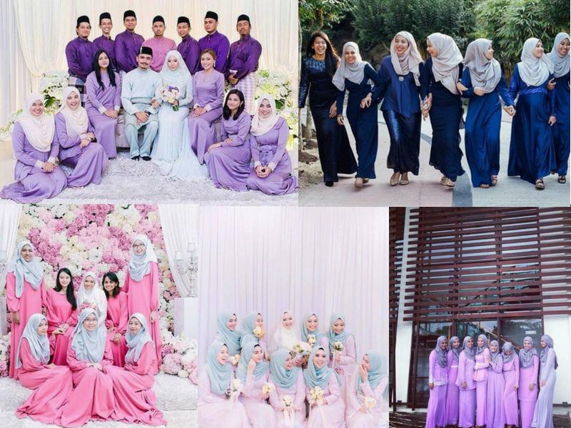 25 Pilihan Warna Baju Bridesmaid Yang Confirm Suka!