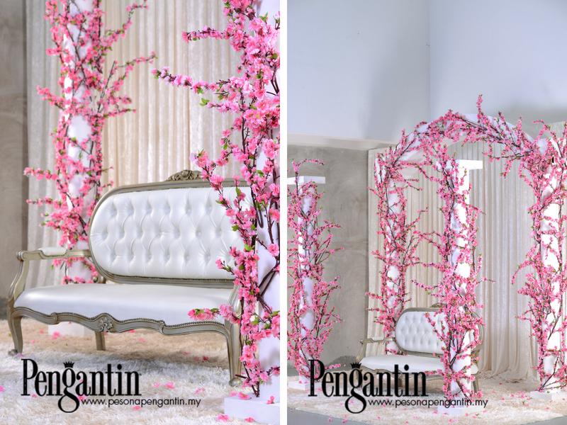 Idea Pelamin Dengan Pesona Sakura Nan Memikat