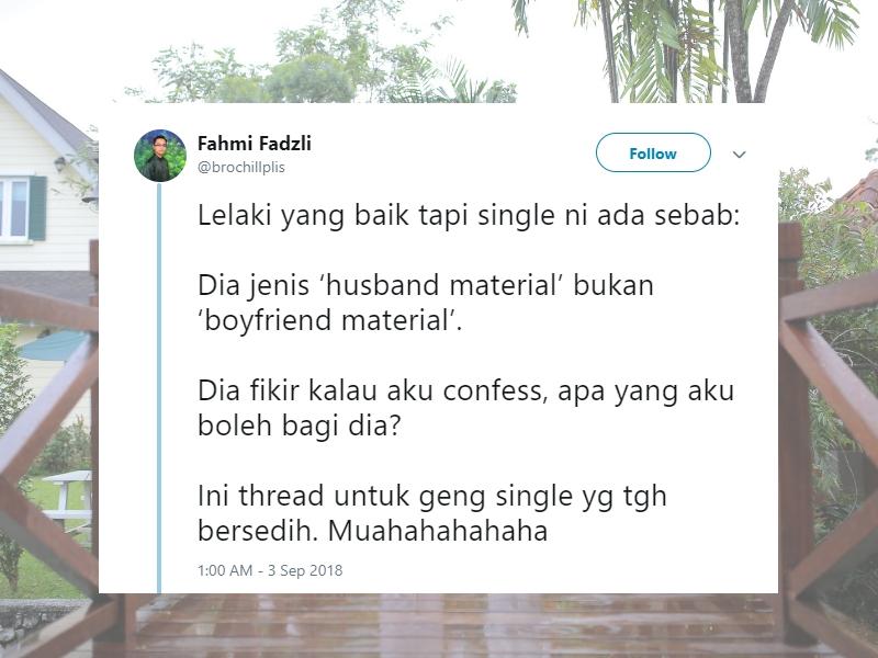 Pemuda Ini Kongsi Kenapa Lelaki Baik Tapi Masih Single